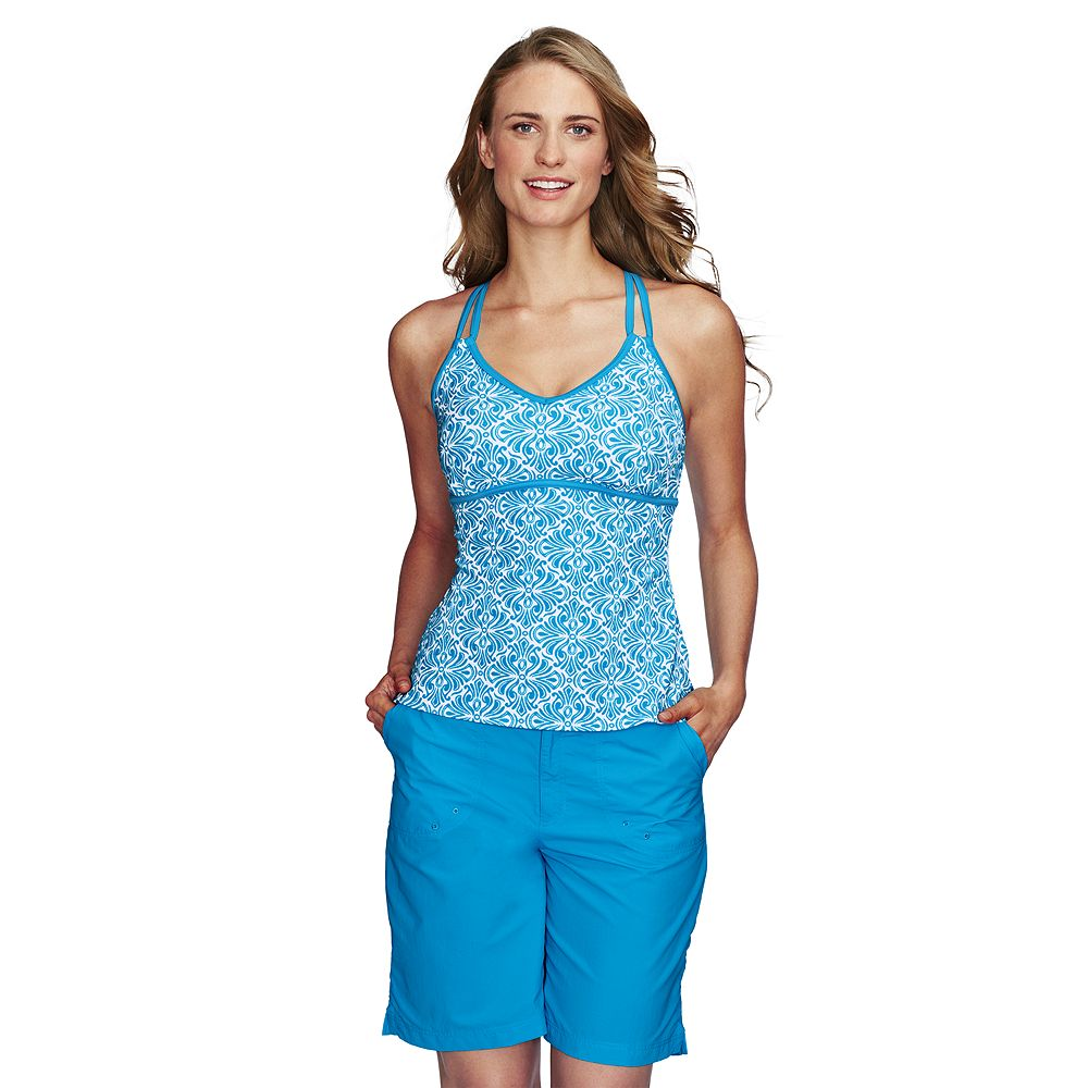 Lands' End Women's Regular Sport Tankini Scroll X-back Tankini Top at Sears.com
