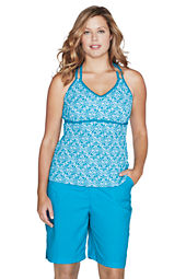 Women's Sport Tankini Scroll X-back Tankini Top