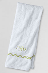 Supima Embroidered Rope Washcloth, Hand & Bath Towel
