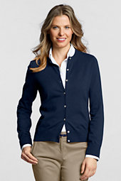 Women's Long Sleeve Supima Fine Gauge Cardigan