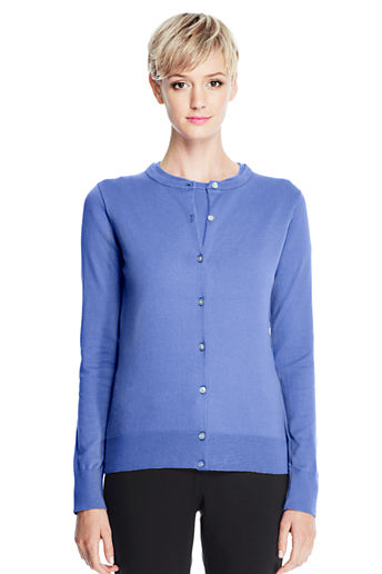 e1e7b51458 ... Women s Supima Cardigan Sweater - Medium French Blue