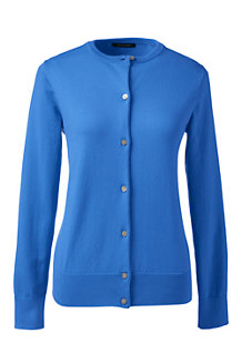 Women's Plain Supima Fine Gauge Cardigan