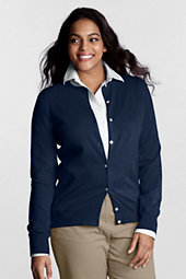 Women's Plus Long Sleeve Supima Fine Gauge Cardigan