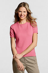 Women's Supima Fine Gauge Short Sleeve Jumper