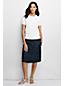 Women's Regular Supima Fine Gauge Short Sleeve Plain Jumper