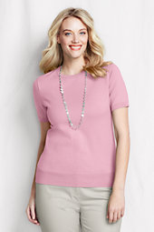Women's Plus Supima Fine Gauge Short Sleeve Jumper