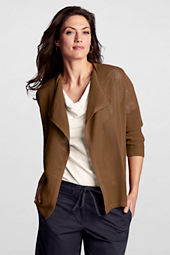 Women's 3/4-sleeve Cotton Drape Cardigan