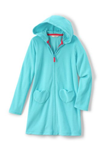 Little Girls' Hooded Towelling Cover-up