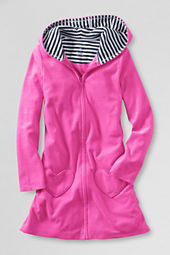Girls' Long Sleeve Knit Hooded Cover-up