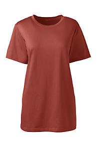 Low Price Sale Online Womens Supima Cotton Striped T-shirt - 8 - Orange Lands End Low Shipping Online Clearance Limited Edition Cheap Best Seller Best Sale For Sale a32po