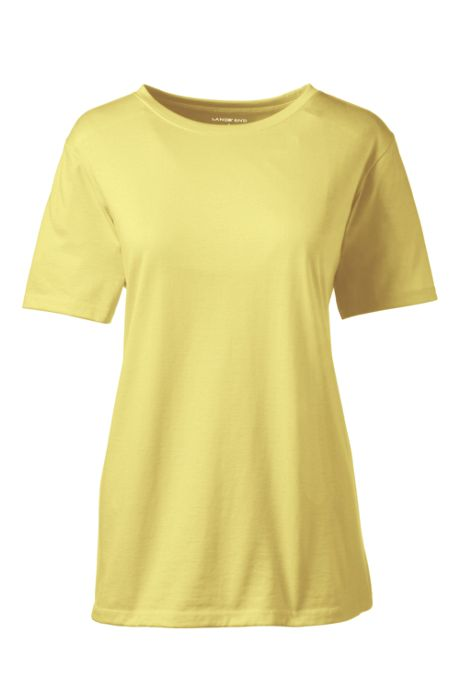Women's Tall Relaxed Fit Supima Cotton Crewneck Short Sleeve T-shirt