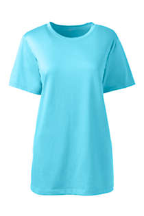 Women's Plus Size Relaxed Supima Cotton Short Sleeve Crewneck T-Shirt, Front