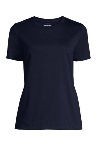 Supima Kurzarm-Shirt mit V-Ausschnitt in Petite-Größe - Pink - 32-34 von Lands End Lands End FeVwXF6