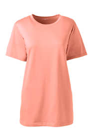 Women's Petite Plus Size Supima Cotton Short Sleeve T-shirt - Relaxed Crewneck