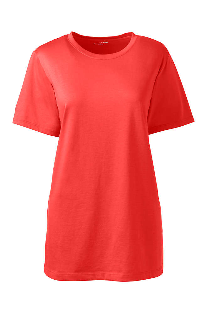 Women's Tall Relaxed Supima Cotton Short Sleeve Crewneck T-Shirt, Front