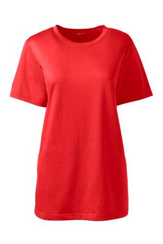 Le T-Shirt Supima à Manches Courtes, Femme Stature Haute