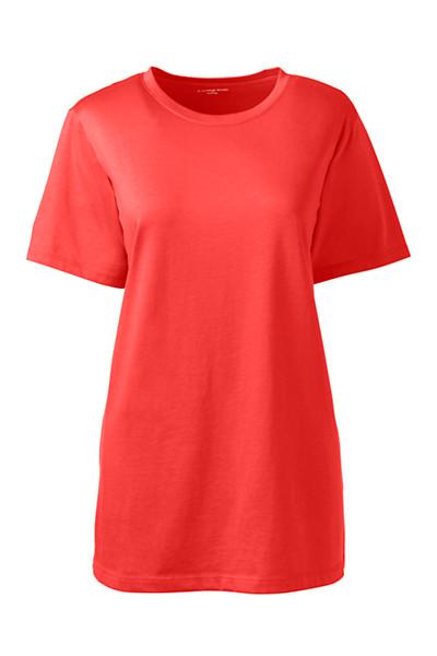 Lands' End - Supima Kurzarm-Shirt mit rundem Ausschnitt - 1
