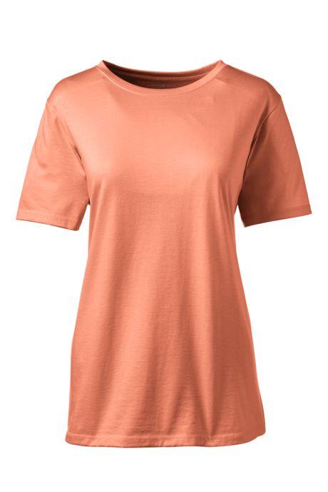Women's Tall Relaxed Short Sleeve T-shirt Supima Cotton Crewneck
