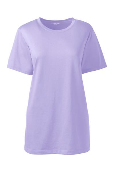 Lands' End - Supima Kurzarm-Shirt mit rundem Ausschnitt  in großen Größen - 1