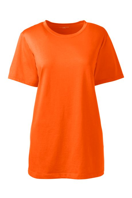 Women's Plus Size Petite Relaxed Fit Supima Cotton Crewneck Short Sleeve T-shirt