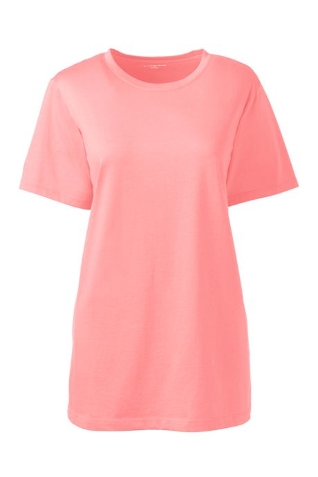 Women's Petite Relaxed Fit Supima Cotton Crewneck Short Sleeve T-shirt