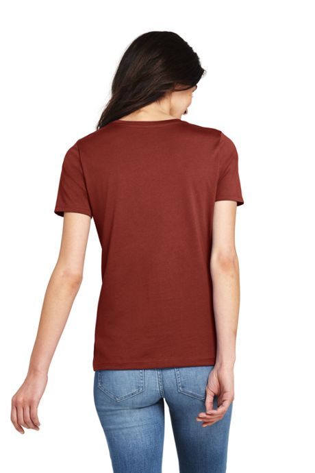 Women's Petite Relaxed Supima Cotton Short Sleeve Crewneck T-Shirt