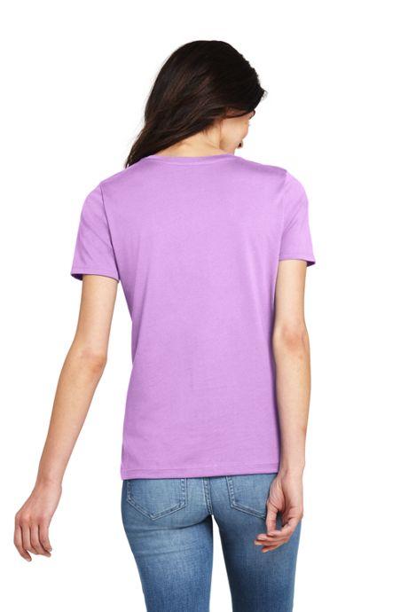 Women's Petite Supima Cotton Short Sleeve T-shirt - Relaxed Crewneck