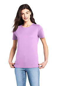2cf1f3a2c7 Women s Relaxed Short Sleeve Supima Cotton Crew Neck T-shirt