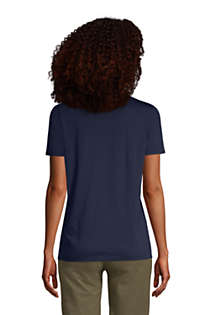 Women's Relaxed Supima Cotton Short Sleeve Crewneck T-Shirt, Back