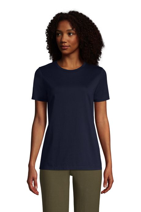 Women's Relaxed Supima Cotton Short Sleeve Crewneck T-Shirt