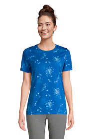 Women's Petite Relaxed Supima Cotton Short Sleeve Crewneck T-Shirt