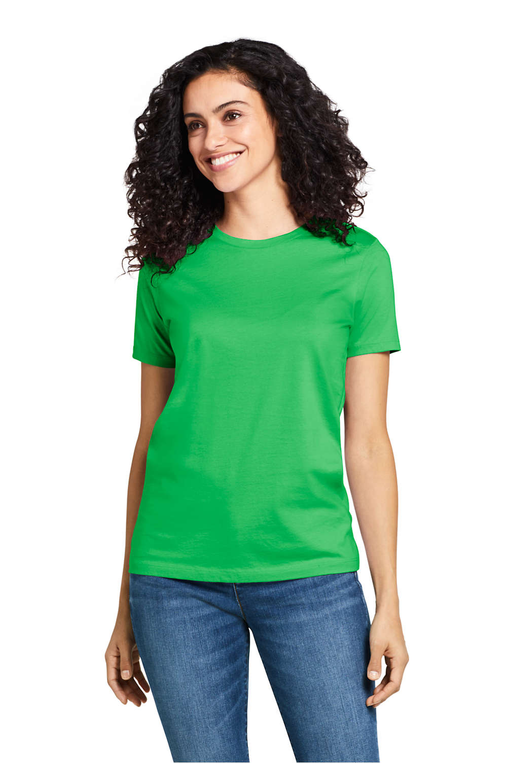 7dfe72bb Women's Relaxed Fit Supima Cotton Crewneck Short Sleeve T-shirt from ...