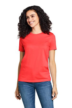 ae1c5b3951 Women's Supima Short Sleeve Crew Neck T-shirt   Lands' End