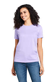 Women's Petite Supima Cotton Short Sleeve T-shirt - Relaxed Crewneck