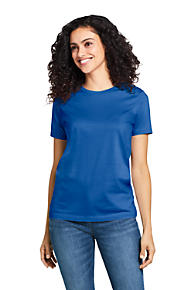 897a5ef0 Women's Supima Cotton Short Sleeve T-shirt - Relaxed Crewneck