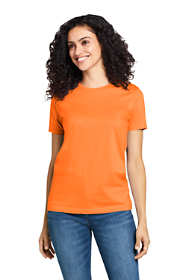 Women's Supima Cotton Short Sleeve T-shirt - Relaxed Crewneck