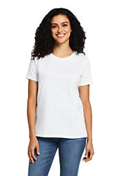 da97209a5 Women s Supima Cotton Short Sleeve T-shirt - Relaxed Crewneck