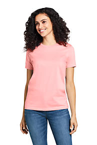 5df5a059caf Women s Supima Cotton Short Sleeve T-shirt - Relaxed Crewneck