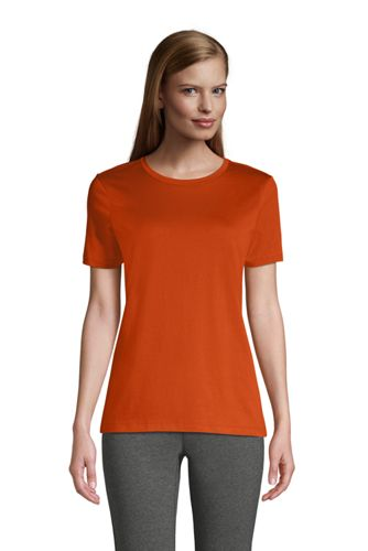 Le T-Shirt Supima à Manches Courtes, Femme Stature Standard