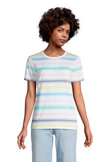 Le T-Shirt Coton Supima Col Rond Manches Courtes