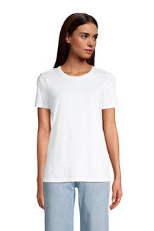 Le T-Shirt Supima à Manches Courtes, Femme