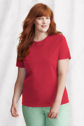 Women's Short Sleeve Relaxed Supima Crew T-shirt