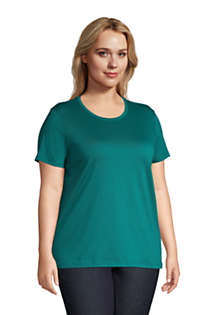 Women's Plus Size Relaxed Supima Cotton Short Sleeve Crewneck T-Shirt, Unknown