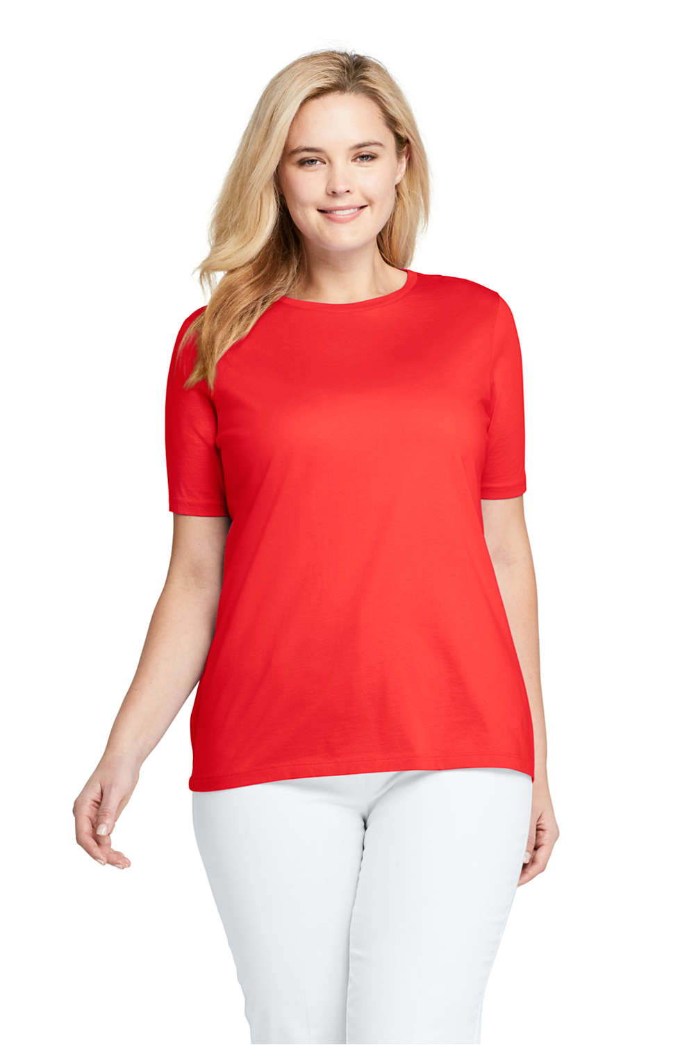 265fd9e997d4 Women's Plus Size Supima Cotton Short Sleeve T-shirt - Relaxed Crewneck