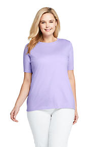 Women s Plus Size Supima Cotton Short Sleeve T-shirt - Relaxed Crewneck 008d55a75