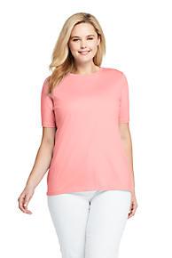 78305c7d66 Women's Plus Size Supima Cotton Short Sleeve T-shirt - Relaxed Crewneck. 15  Colors Available