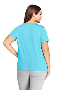 Women's Plus Size Relaxed Supima Cotton Short Sleeve Crewneck T-Shirt, Back