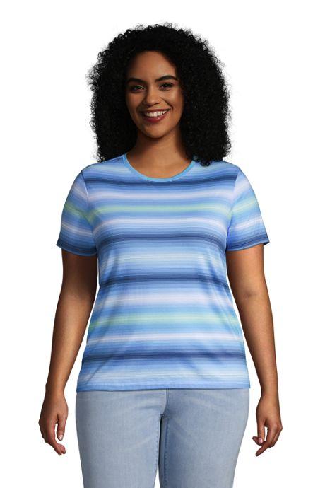 Women's Plus Size Relaxed Supima Cotton Short Sleeve Crewneck T-Shirt
