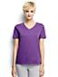 Supima Kurzarm-T-Shirt mit V-Ausschnitt für Damen in Petite-Größe