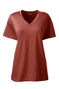 Womens Supima Cotton Striped T-shirt - 8 - Orange Lands End Inexpensive For Sale 1iL3LWfGvG
